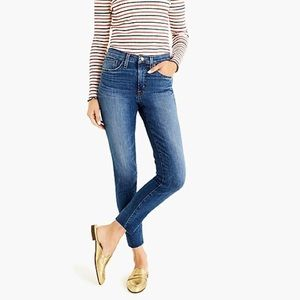 "J. Crew 9"" high-rise toothpick jean with cut hem"